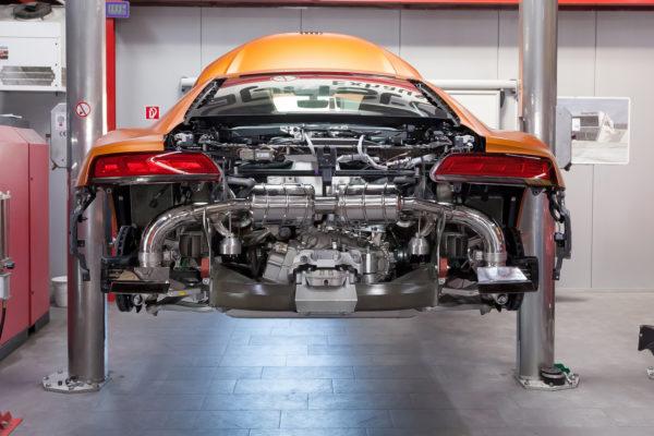 Audi R8 Exhuast 1
