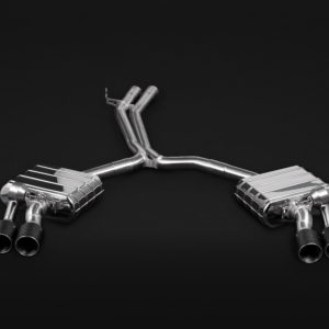 Audi S4 S5 Capristo Exhaust with Mid Pipes Carbon Fiber Tips