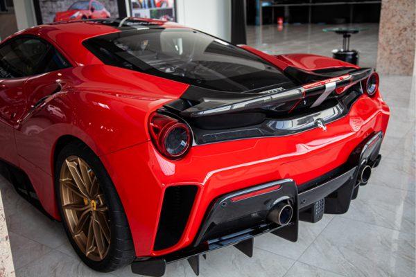 Ferrari 488 Pista Carbon Fiber Rear Bumper Capristo Exhaust