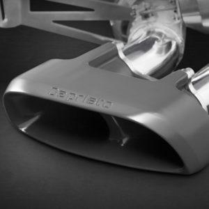 Porsche Macan S Turbo Capristo Exhaust System Ceramic Tips Close Up