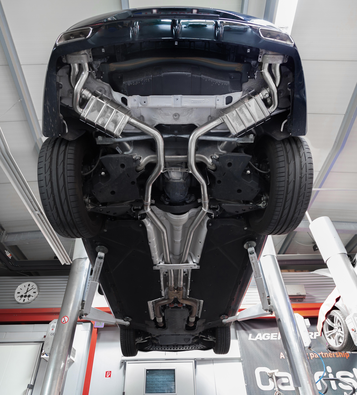 Mercedes Benz S500 S63 Valved Exhaust Below View